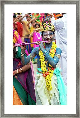 Framed Print featuring the photograph The Boy Krishna by Tim Gainey