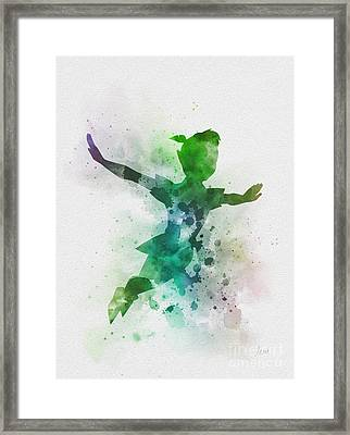 The Boy Who Could Fly Framed Print