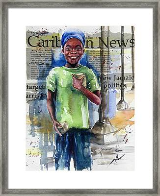 The Boy Who Sells Peanuts Framed Print