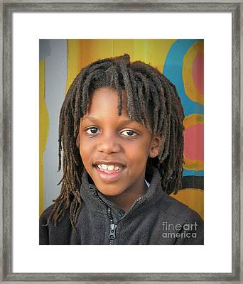 The Boy Who Wore Dreads Framed Print by Angela J Wright