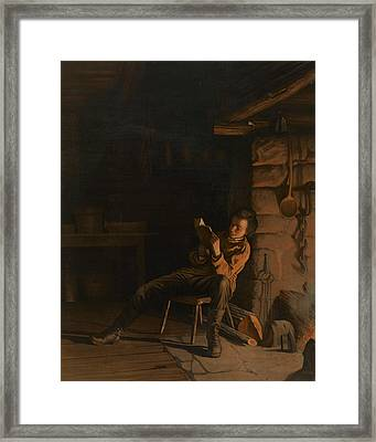 The Boyhood Of Lincoln  Framed Print by Eastman Johnson