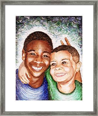 The Boys  Framed Print by Keenya  Woods