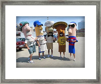 The Boys Of Summer Eating Framed Print by Geoff Strehlow