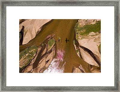 The Braided River Rovuma In The Dry Framed Print by Michael Fay
