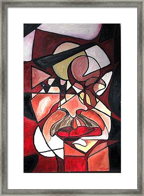 Framed Print featuring the painting The Brain Surgeon  by Patricia Arroyo