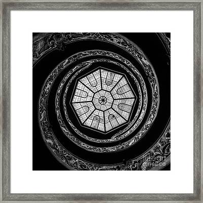 The Bramante Staircase Framed Print