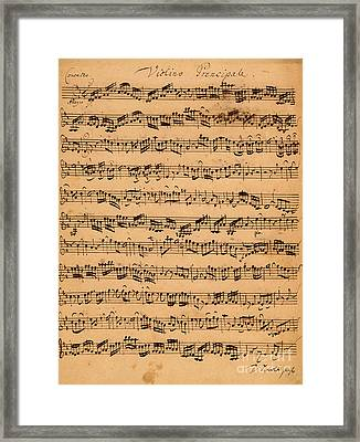 The Brandenburger Concertos Framed Print by Johann Sebastian Bach