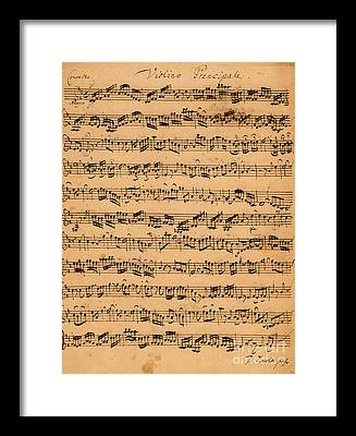 Baroque Drawings Framed Prints