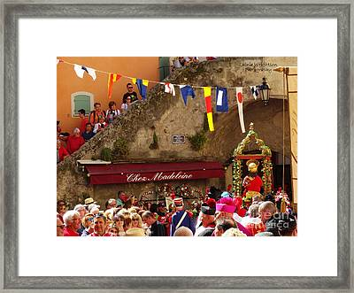 The Bravade Of St Tropez Framed Print by Lainie Wrightson
