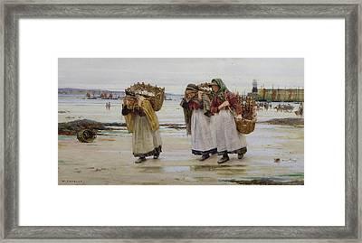 The Breadwinners Or Newlyn Fishwives Framed Print by Walter Langley