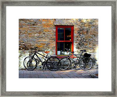 Framed Print featuring the photograph The Break by Elfriede Fulda