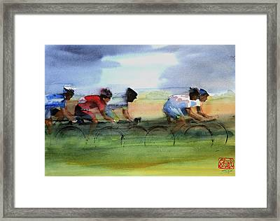 The Breakaway Framed Print by Shirley  Peters