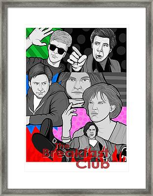 the Breakfast Club 30th anniversary Framed Print by Gary Niles