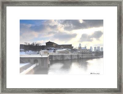 The Breaking Sun Over Philadelphia Framed Print by Bill Cannon