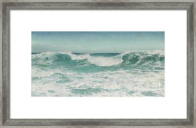 The Breaking Wave Framed Print by Celestial Images