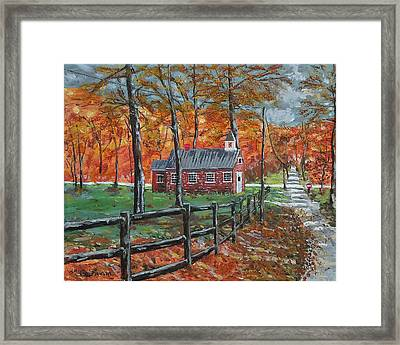 The Brick Country Schoolhouse Framed Print