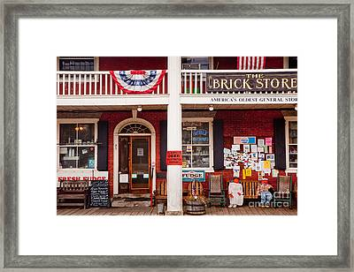 The Brick Store Framed Print by Susan Cole Kelly