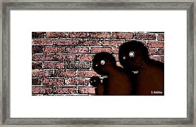 The Bricks Framed Print by Richard N Watkins