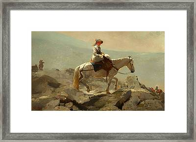 The Bridal Path - White Mountains Framed Print by Mountain Dreams