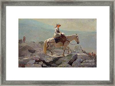 The Bridal Path Framed Print by Winslow Homer