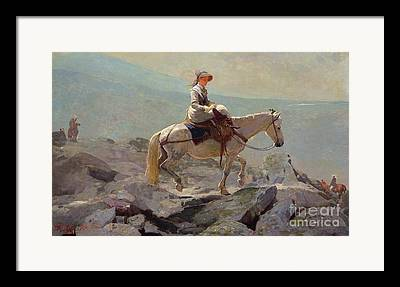 Side Saddle Framed Prints