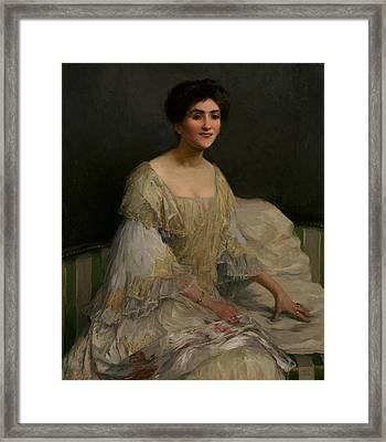 The Bride Framed Print by Elizabeth Adela Stanhope Forbes