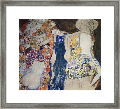 The Bride Framed Print by Gustav Klimt