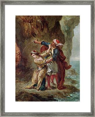 The Bride Of Abydos Framed Print by Ferdinand Victor Eugene Delacroix