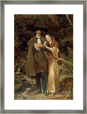 The Bride Of Lammermoor Framed Print by Sir John Everett Millais