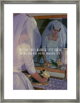 The Bride Quote Framed Print by JAMART Photography