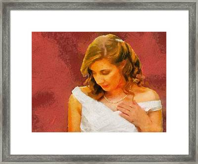 The Bride To Be Framed Print by Jeff Kolker