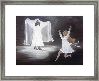The Bridegroom Calls Framed Print by Patty  Thomas