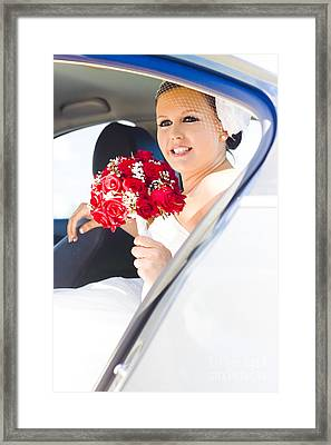 The Brides Arrival Framed Print by Jorgo Photography - Wall Art Gallery