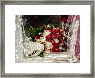 The Bride's Bouquet Framed Print