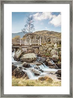The Bridge Across Rhaeadr Idwal, Snowdonia - North Wales Framed Print