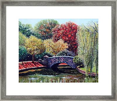 The Bridge At Freedom Park Framed Print by Jerry Kirk