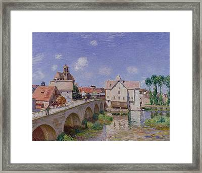 The Bridge At Moret Framed Print by Alfred Sisley