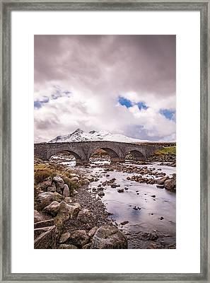The Bridge At Sligachan On Skye Framed Print