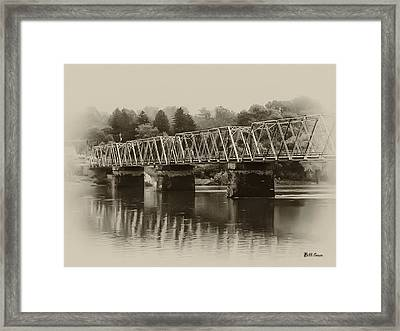 The Bridge At Washingtons Crossing Framed Print by Bill Cannon