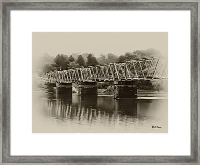The Bridge At Washingtons Crossing Framed Print