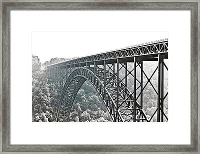 The Bridge B/w Framed Print