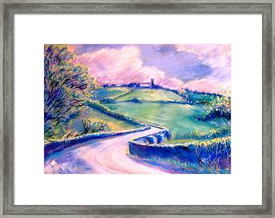 The Bridge Below Hacketstown  Framed Print by Trudi Doyle