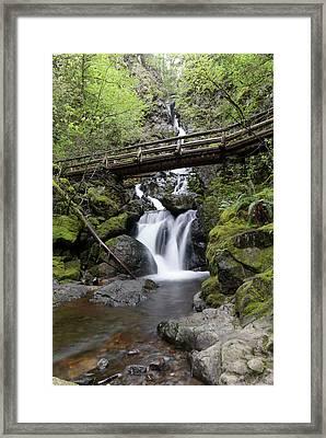 The Bridge Crossing Rodney Falls Framed Print