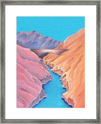 Framed Print featuring the painting The Bridge by Elizabeth Lock