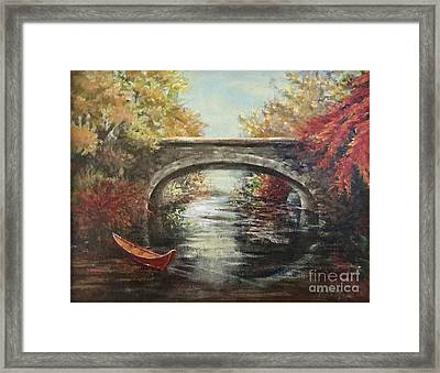 The Bridge Fall Framed Print