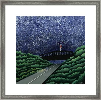 The Bridge II Framed Print by Graciela Bello