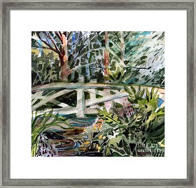The Bridge Framed Print by Mindy Newman
