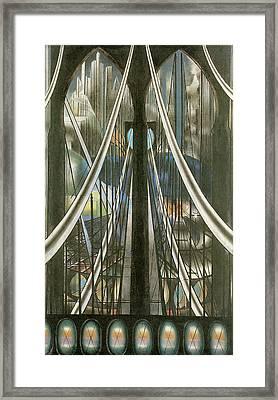 The Bridge New York Framed Print by Joseph Stella