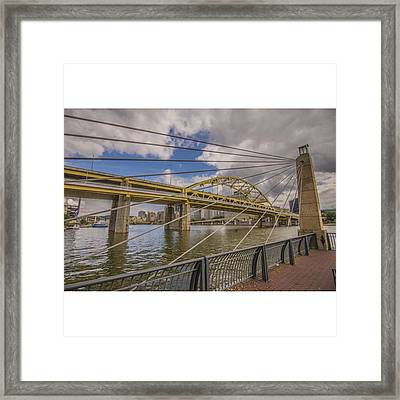 The Bridge. No Not Mc Shan Aka Queens Framed Print