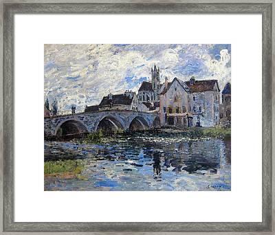 The Bridge Of Moret Framed Print by Alfred Sisley